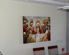 Pintura A M�o Santa Ceia 80x100 Cod 593