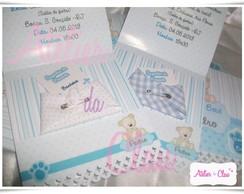 Convite Ch� de Beb� com Fralda de tecido