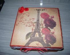 Caixa pequena Paris em Scrap