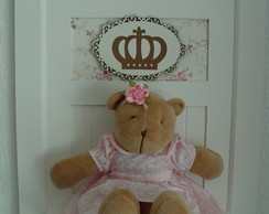 (MA 0145) Quadro maternida ursa princesa