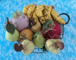 Cesta de Frutas em Tecido