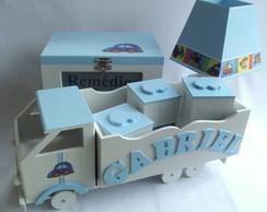"Kit Beb� Personalizado ""Transportes"""