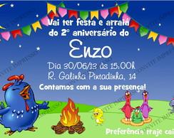 Convite Arrai� Galinha Pintadinha