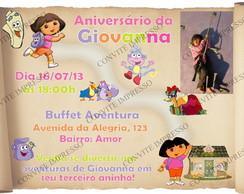 Convite Mapa Dora Aventureira