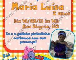 Convite Galinha Pintadinha com foto