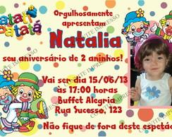 Convite Patati Patat� com foto