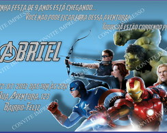 Convite Vingadores