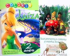 Revista Colorir Tinker Bell