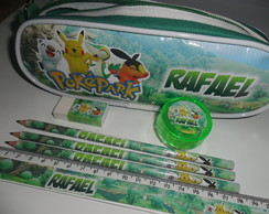 Kit Estojo Personalizado - Pokemon