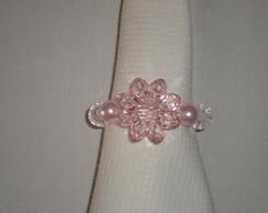 Porta Guardanapo rosa e transparente