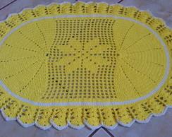 Tapete Oval Amarelo
