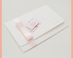 Convite para ch� de beb� ou fraldas rosa