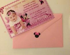 Convite Minnie Rosa...