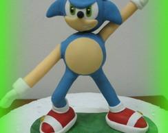 Topo de bolo - Sonic