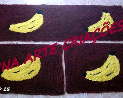 Jogo De Passadeira Banana roxo