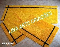 Jogo De Passadeira amarelo Lorena