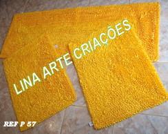 Jogo De Passadeira amarelo liso