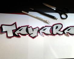 Adesivos Nomes, Letras em A�o Escovado