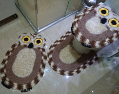 Jogo de banheiro - Coruja Bnh 064