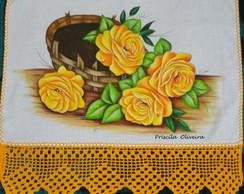 Pano de Prato Rosas Amarelas
