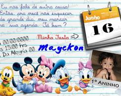 Convite Personalizado Baby Disney