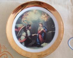 Prato porcelana grande Anjos e Madonas