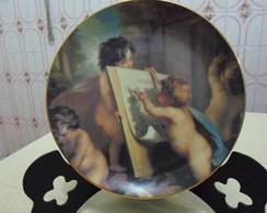 Prato de porcelana Anjos maravilhoso