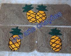 Tapetes jogo de passadeira abacaxi