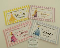 TAGS personalizadas Princesas