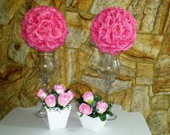 Kit vaso e flores - Aluguel SP