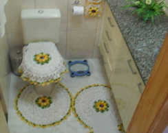 Tapetes de croch� com flor