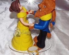 Topo De Bolo Bela E Fera Disney