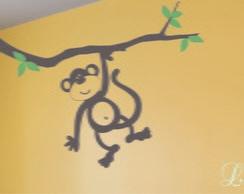 Adesivo decora��o parede macaco no galho