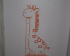 Adesivo Parede Infantil girafa com r�gua