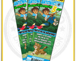 Arte Convite Anivers�rio Go Diego Go