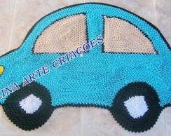 Tapete Infantil carrinho fusquinha azul