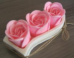 Sabonete Rosas Altas no Suporte