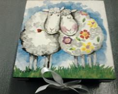 caixa mdf nfantil ovelhas frete gr�tis