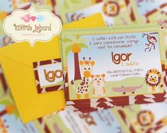 Convite - Safari Baby