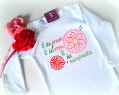 Camiseta Ou Body - � de cravo � de rosa