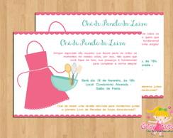 Convite Ch� de Cozinha Avental