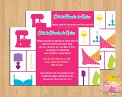 Convite Ch� de Panela Pink