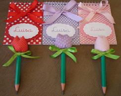 Kit Cadernetas e Mini L�pis Tulipa