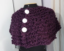 Mini poncho roxo