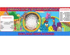 Rotulo para lata  Galinha Pintadinha.