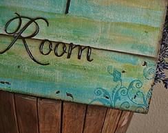 Placa para Toilette Pipi Room