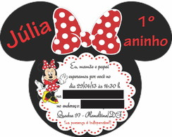 Arte digital minnie convite