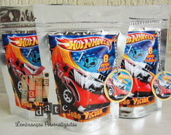 Saquinho Zip Guloseimas - Hot Wheels