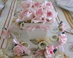 Porta-guardanapo mini-rosa Iz