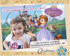Convite Princesinha Sofia bichinho
